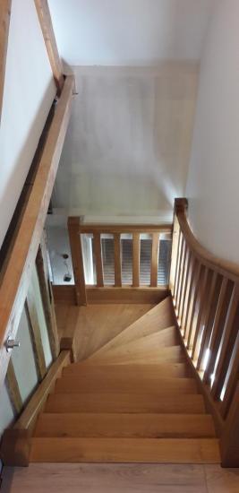 escalier en chêne