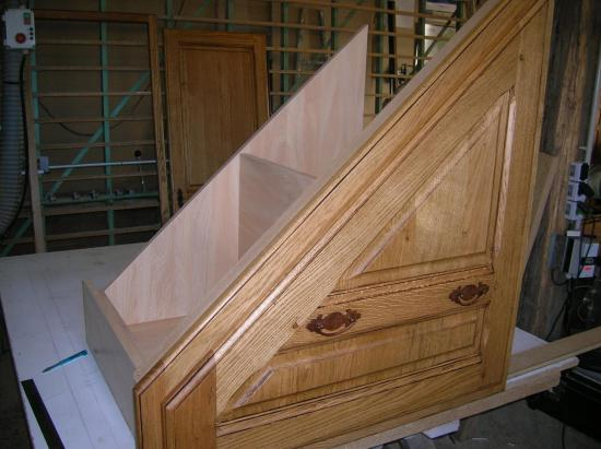 aménagement sous un escalier