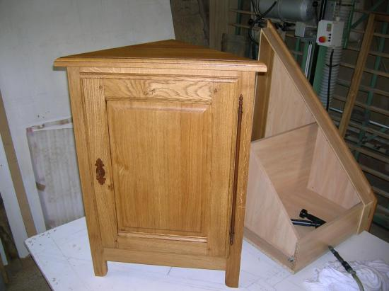 meuble d'angle en chêne