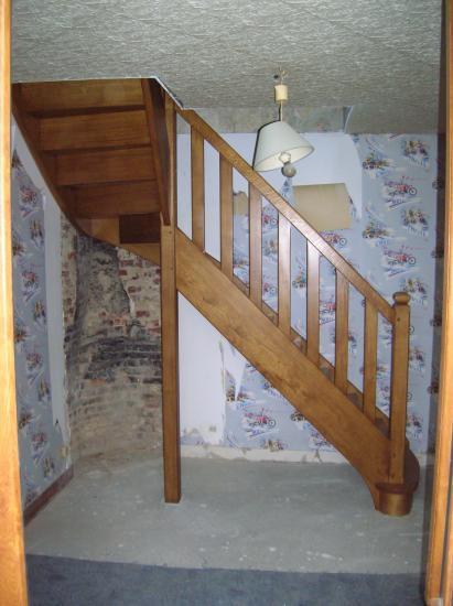 escalier en chêne sur mesure