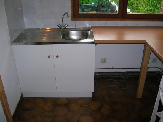 meuble sous evier+plan de travail